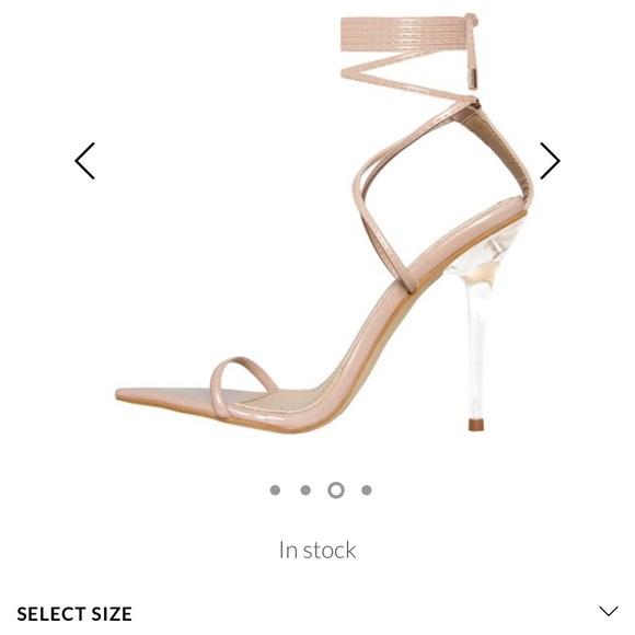b2cf730d850 Fashion Nova Shoes - Lace up nude clear heels (Simmi shoes London)